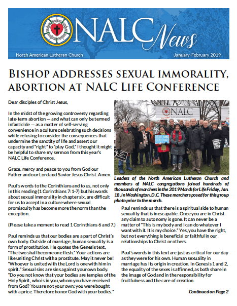 Newsletter - North American Lutheran Church