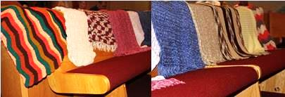 Prayers shawls blessed at St. Timothy Lutheran Church, Camp Hill, PA